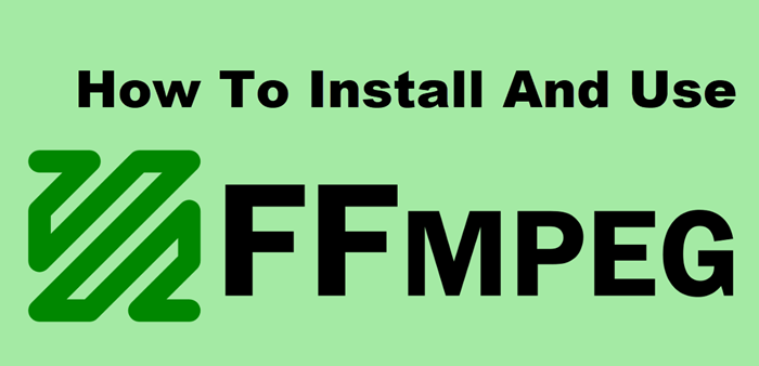 install and use ffmpeg fedora1