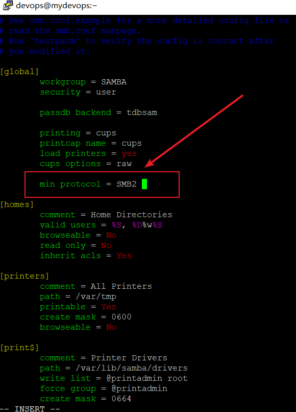 Configure Samba Server to Use SMBv2 or SMBv3 Protocol1