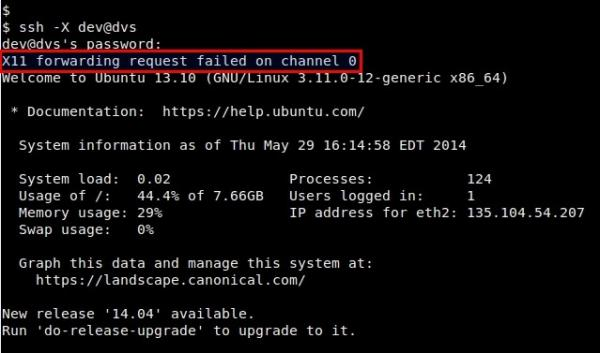 "Linux:Linux有问必答:如何修复""X11 forwarding request failed on channel 0""错误"