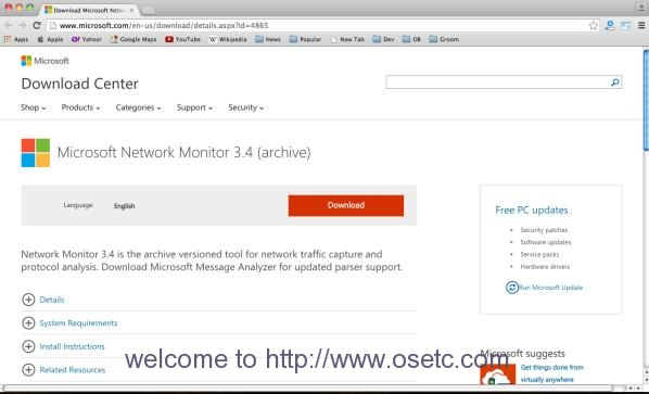Microsoft Network Monitor